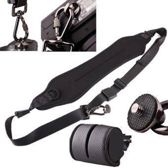 Easbuy Black Rapid Camera Shoulder Neck Strap Belt Sling for CanonNikon Sony DSLR