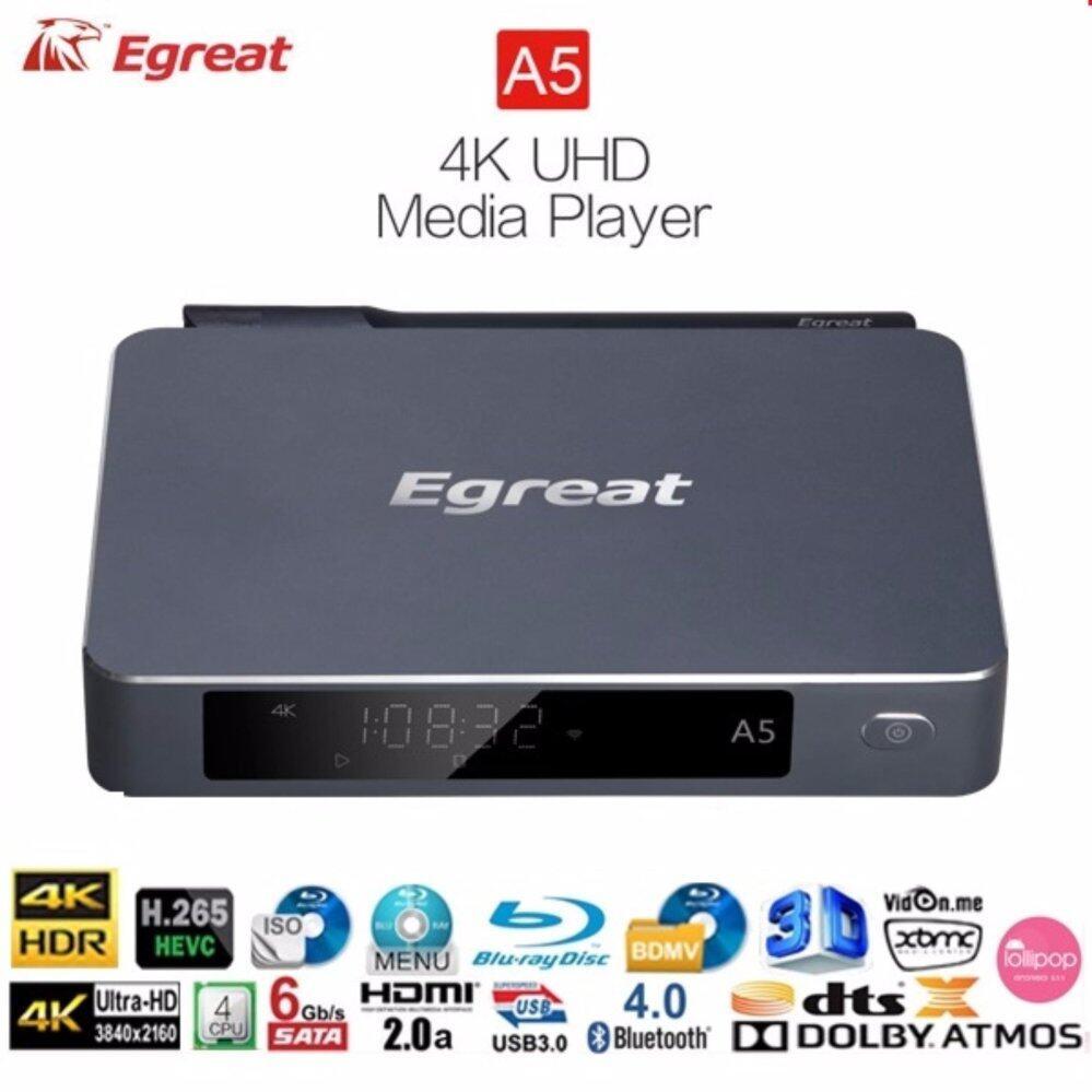 สินเชื่อบุคคลซิตี้  เชียงใหม่ Egreat A5 ปี 2017  Android box + UHD Media Player แรง 4 Core CPU 4K H.265 Dolby DTS XBMC
