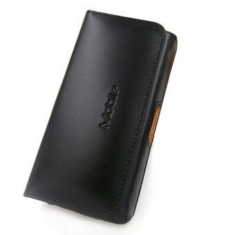 เคสหนังเหน็บเอวใส่เข็มขัด Samsung Note 2 แนวนอน - สีดำ