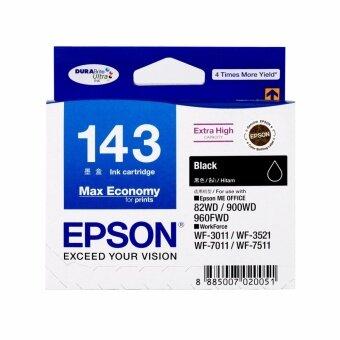 2561 Epson 143BK (CT13T143190) หมึกแท้ สีดำ