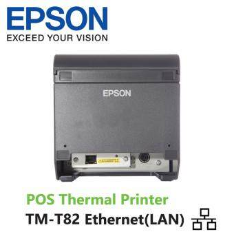 Epson Thermal Receipt Printer TM-T82 Ethernet เครื่องพิมพ์สลิป ใบเสร็จรับเงิน ใบกำกับภาษี (สีดำ) (image 1)