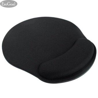 EsoGoal รูปทรงสี่เหลี่ยมผืนผ้าหนาเบาะมือหนูหนูเหลือเสื่อโฟม สีดำ