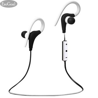 EsoGoal (สีขาว + สีดำ) หูฟังบลูทูธ Earbud เวอร์ชั่น 4.1 พร้อมไมโครโฟน หูฟังอินเอียร์ รุ่น สำหรับออกกำลังกาย หูฟังไร้สาย