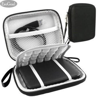 EsoGoal External Hard Drive Bag Case Shockproof Carrying Travel Case for 2.5 Inch Portable External, GPS Camera Pack (Black) - intl