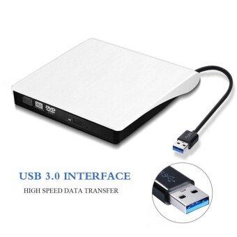ไดรฟ์ดีวีดีภายนอกแบบพกพา USB 3.0 CD DVD-RW DVD ROM ภายนอก DVD Burner Writer สำหรับ Mac Air/Pro หรืออื่นๆ แล็ปท็อป/เดสก์ท็อป Win10 และ Win 8