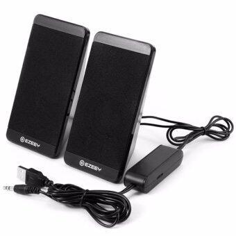 EZEEY S4 Mini Multimedia Speaker ลำโพงสำหรับ คอมพิวเตอร์, โน๊ตบุ๊ค, แท็บเล็ต, โทรศัพท์มือถือ (สีดำ)