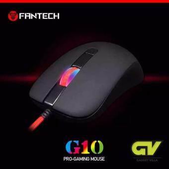 FANTECH Gaming Mouse เมาส์เกมมิ่ง ออฟติคอล ความแม่นยำสูงปรับ DPI 800-1200-1600-2400 เหมาะกับเกม FPS รุ่น - G10 (สีดำ)