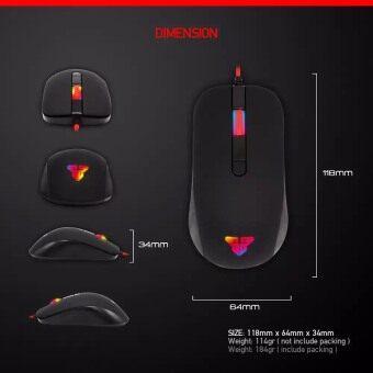 Fantech Gaming Mouse เมาส์เกมมิ่ง ออฟติคอล ความแม่นยำสูงปรับ DPI 800-1200-1600-2400 เหมาะกับเกม FPS รุ่น - G10 (สีดำ) / ฟรี Fantech แผ่นรองเมาส์แบบสปีด ขนาด 25x21cm รุ่น - MP25 (สีดำ/แดง) (image 4)