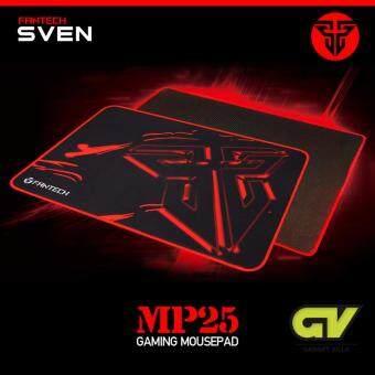 Fantech Gaming Mousepad แผ่นรองmouseแบบสปีด สำหรับเล่นเกมส์ ขนาด 25x21cm รุ่น MP25 (สีดำ/แดง)