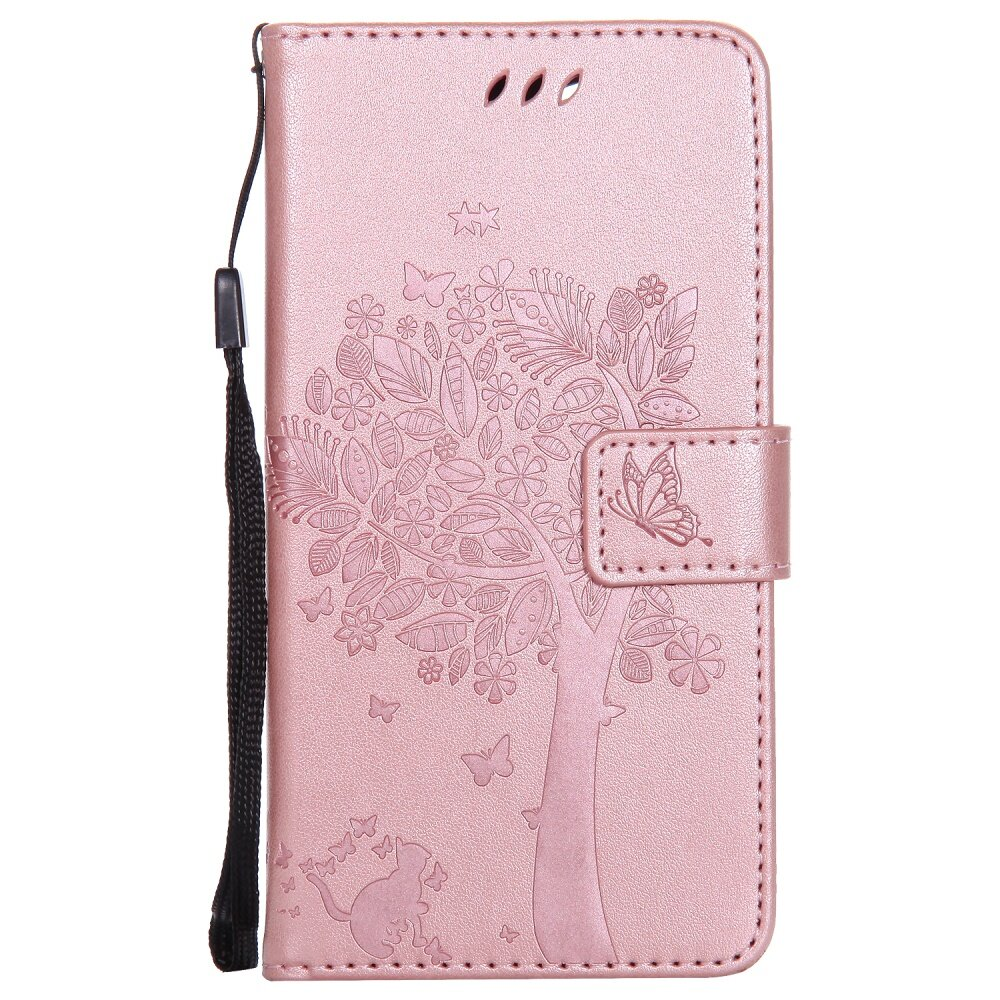 Fashion Tree Protective Stand Wallet Purse Credit Card ID HoldersMagnetic Flip Folio TPU .