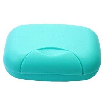 เปรียบเทียบราคา fehiba Soap Case Holder Container Box for Home Outdoor Hiking TravelingBlue - intl