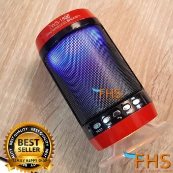 FHS ลำโพงบลูทูธ เสียงดีเบสแน่น พร้อมไฟดิสโก้ เปิด-ปิดได้ Wireless\nSubwoofer Speaker รุ่น WS-1806
