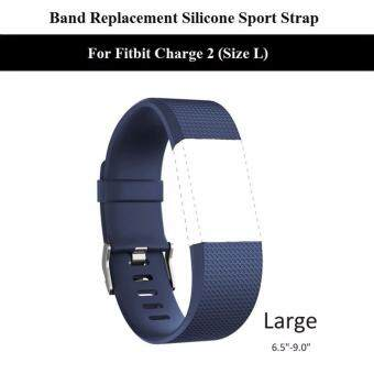 สาย นาฬิกา Fitbit Charge 2 ไซส์ L--Replacement Sport Silicone Strap Band For Fitbit Charge 2 Size Large