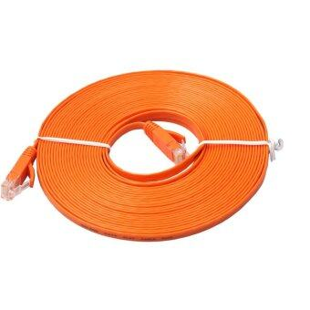 อยากขาย FLAT Ethernet CAT6 Network Cable Patch Lead RJ45 forPC/PS4/Xbox(Orange)-10M - intl