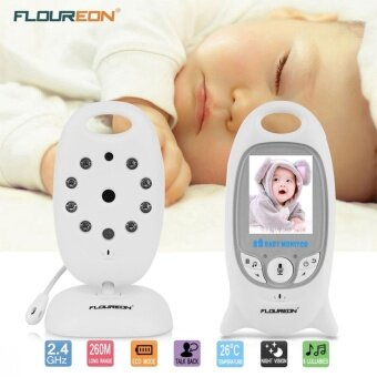 อยากขาย FLOUREON Digital Wireless 2.4 GHz Baby MonitorSecurity Camera Temperature Display 2 Way Talk Night Vision Lullabies Radio UK - intl