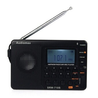 FM / AM / SW World Band Stereo Radio MP3 Player REC Recorder with Sleep Timer - intl