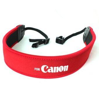 For Canon สายคล้องกล้อง แบบนิ่ม Neoprene รุ่น Canon (สีแดง/ขาว) (image 1)