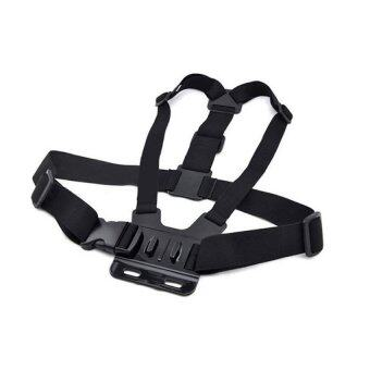 For Gopro อุปกรณ์เสริม GOPRO ACCESSORIES CHEST MOUNT HARNESS - Black
