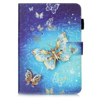 For Samsung Galaxy Tab S2 8.0 SM-T715 With Stylus Holder LeatherCase Flip Stand Cover - Golden Butterflies - intl - 3