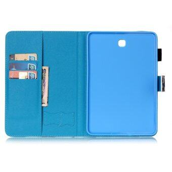 For Samsung Galaxy Tab S2 8.0 SM-T715 With Stylus Holder LeatherCase Flip Stand Cover - Golden Butterflies - intl - 5