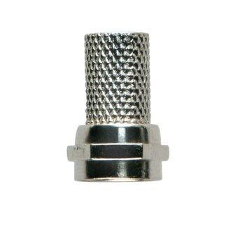 FUJIKO CCTV F-Type Twist-On Coaxial Cable RF Connector Plug Male(สีเงิน) - 10pcs