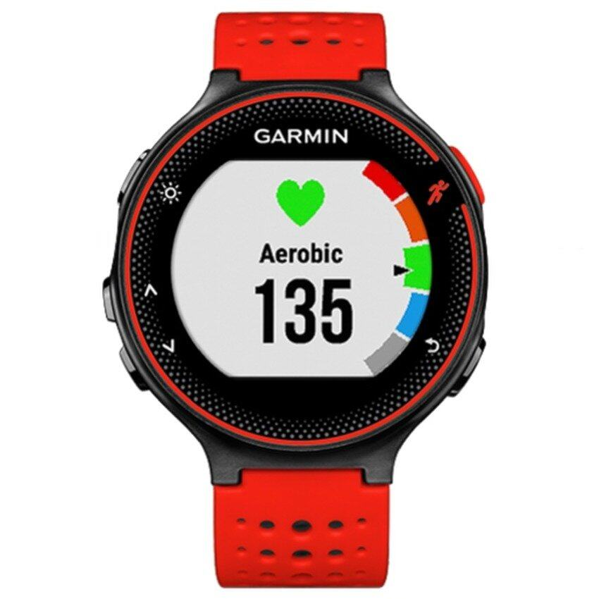 ฉะเชิงเทรา Garmin Forerunner 235 นาฬิกาข้อมือติดจีพีเอสวิ่งที่มีอัตราการเต้นของหัวใจข้อมือ (LAVA Red)