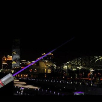 ... Gift Powerful Blue Violet Laser Pointer Pen Beam Light 5Mw 405NmProfessional Lazer intl
