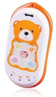 GPS Tracker เครื่องติดตามเด็ก โทรศัพท์จีพีเอส - สีส้ม/ขาว