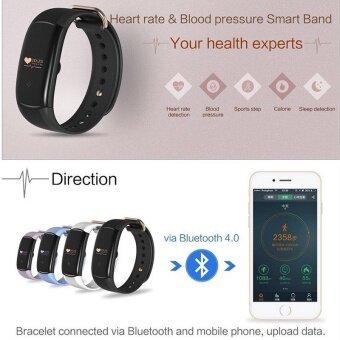 H1 Wristband Heart Health Monitor Smart Watches Bluetooth Blood Pressure Monitor Smart Band IP68 Water Proof Swim Bracelet Fitness Tracker - intl - 2