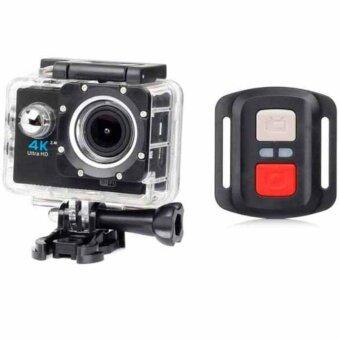 H16R Ultra HD 4K remote Action Camera 2.0' Screen WiFi 1080P/60fps170D lens Helmet Cam go pro waterproof mini cameraกล้องสำหรับทำกิจกรรมออกกำลังกาย ถ่ายวีดีโอความละเอียดสูงสูด 4K