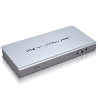 HDMI 4x1 Quad Multi-viewer 1 In 4 Out Powered Splitter with Seamless Switcher Remote Control - intl