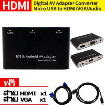 HDMI BOX AV adapter Video to HDMI VGA HDTV TV Projector For iPad iPhone Android & IOS แถมสายHDMI to HDMI 1เส้น มูลค่า199 สายVGA to VGA 1เส้น มูลค่า199