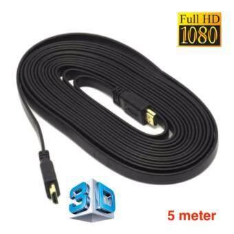 HDMI High Speed 5M 1080p 3D VER 1.4 สายแบบอ่อนแบนยาว 5เมตร (Black)