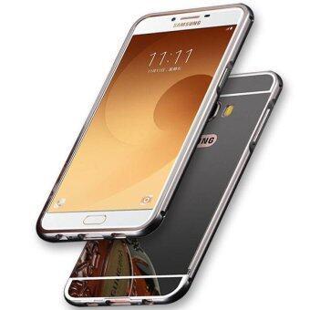 High Quanlity Mirror Metal Aluminum Case + Ultra Slim Acrylic BackCover For Samsung Galaxy C9 Pro
