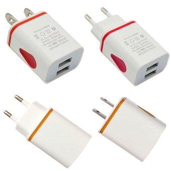 ประกาศขาย High Tech Dual USB Ports LED 5V 2.1A US/EU Plug Power Wall Home Charging Charger Adapter
