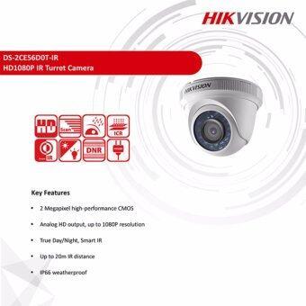 Hikvision HDTVI 1080P รุ่น DS-2CE56D0T-IR 2MP (3.6 mm) ใช้กับเครื่องบันทึกที่รองรับกล้องระบบ HDTVI ความละเอียด 2 ล้านพิกเซลขึ้นไปเท่านั้น - 2