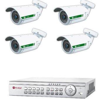 Hiview ชุดกล้อง AHD Pack Set HiView 34b10 1 MP 4 ตัว + DVR 9804 1ตัว