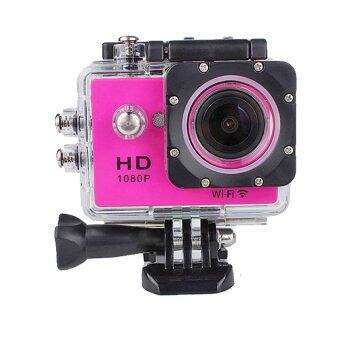 HLT-Action Camera Full HD 12 MP Wifi - จอ 2 นิ้ว (Pink)