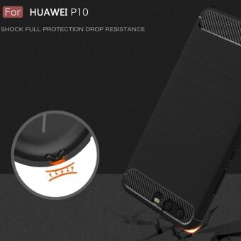 Huawei P10 Plus Case Shockproof Carbon Fibre Soft TPU Silicone Protective Case Cover for Huawei P10 Plus - intl - 3