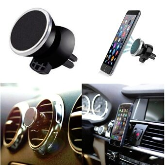 I-Gou ที่วางโทรศัพท์ในรถยนต์แบบแม่เหล็กเสียบช่องแอร์ หมุนได้ 360องศา (Black)