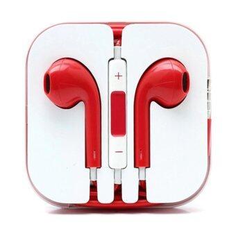 หูฟังสำหรับ i-phone / i-pod / i-pad (สีแดง) 1ชิ้น