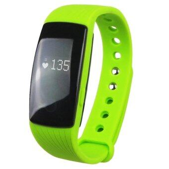 ID 107 Water-resistant Bluetooth 4.0 Smart Bracelet Heart Rate Monitor Sport Smart Wristband for Android and iOS (Green) (Intl)