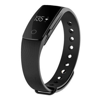 ID 107 Water-resistant Bluetooth 4.0 Smart Bracelet Heart Rate Monitor Sport Smart Wristband for Android iOS (Black) (Intl)