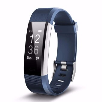 ID115Plus Bluetooth Smart Band Heart Rate Monitor Sport Fitness Tracker for iPhone Android Smartphone - intl