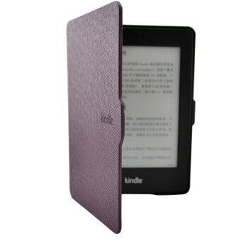 ปิดเคสฉลาด ultra slim แม่เหล็กสำหรับ Kindle สีขาว+จอหนังสีม่วง