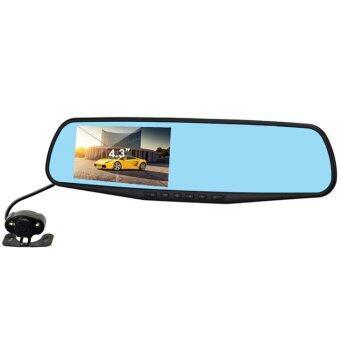 123shop Vehicle Blackbox DVR กล้องติดรถยนต์ (Car DVR) Full HD 1080P กล้องหน้า+กระจกมองหลังในตัว