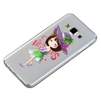 HugCase TPU เคส Samsung Galaxy A5 2015 เคสโทรศัพท์พิมพ์ลาย Grapes & Girl เนื้อบาง 0.3 mm