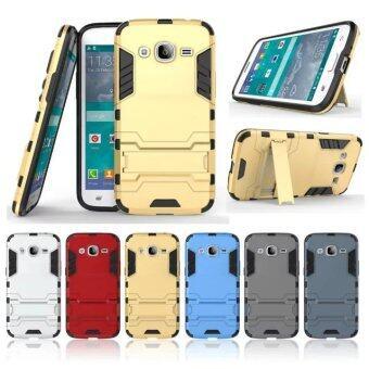 โทรศัพท์ลูกผสม BYT TPU+PC เคสสำหรับ Samsung Galaxy J2 2015 (สีเทา)