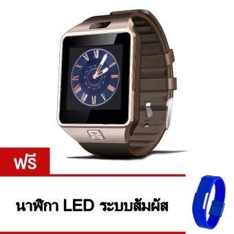 Smart Watch รุ่น A9 Phone Watch (สีทอง) แถมฟรี นาฬิกา LED ระบบสัมผัส (คละสี)