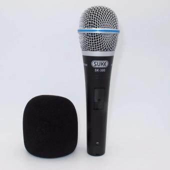 SUKE Condenser ไมค์โครโฟนแบบสายมีฟองน้ำครอบไมค์ รุ่น SK300